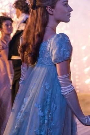 Daphne Bridgerton Iconic Blue Lace Dress TV Show 'Bridgerton'