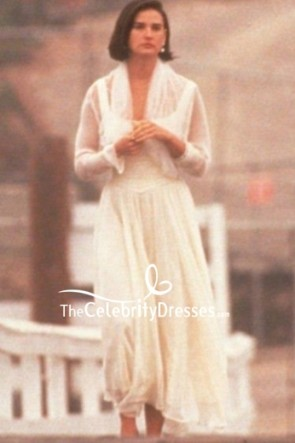 Demi Moore Ivory Prom Dress In Movie Indecent Proposal