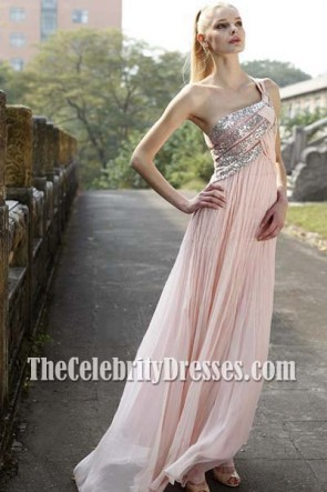 Celebrity Inspired One Shoulder Prom Dress Evening Gown