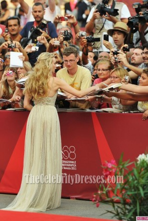 Diane Kruger Prom Dress 68th Venice Film Festival Red Carpet Celebrity Gown