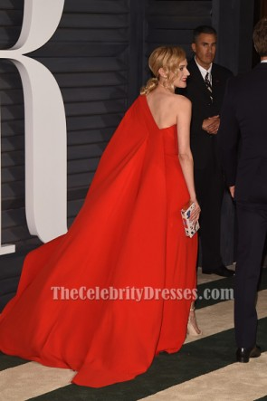 Diane Kruger Red One Shoulder Jumpsuit Vanity Fair Oscar Party 2015 TCD6431