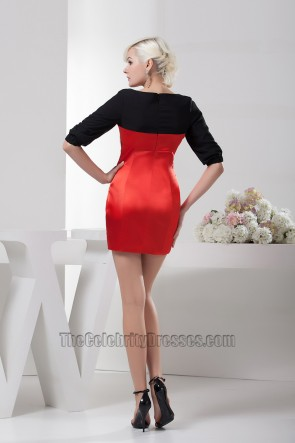Discount Black And Red Party Cocktail Homecoming Dresses