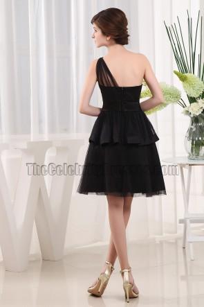 Discount One Shoulder Little Black Party Cocktail Dresses