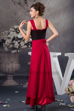 Discount Red And Black A-Line Prom Gown Evening Dress