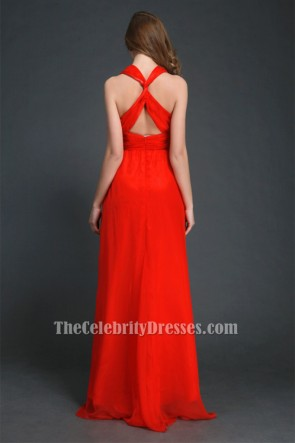 Discount Red Backless Prom Gown Evening Dresses TCDBF044