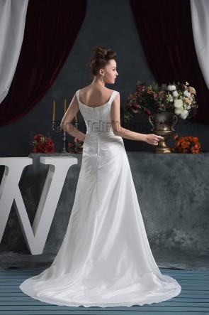 Discount Sheath/Column Beaded Bridal Gown Wedding Dress