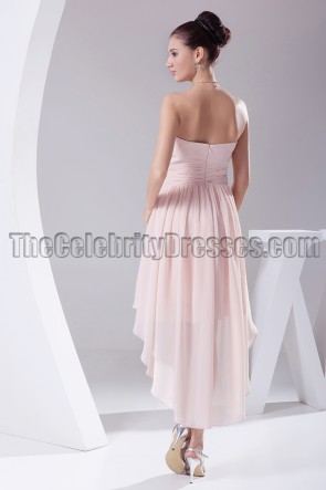 Discount Strapless High Low Bridesmaid Cocktail Dresses