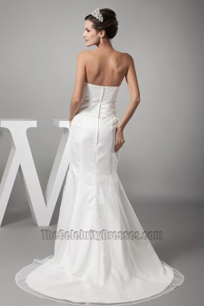 Discount Trumpet /Mermaid Strapless Organza Wedding Dress