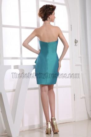 Elegant Strapless Short Party Dress Homecoming Bridesmaid Dresses