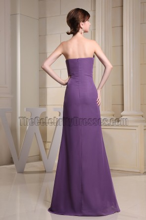 Purple Strapless Sweetheart Mermaid Evening Dress Bridesmaid Dresses