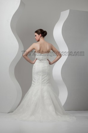Elegant Trumpet/Mermaid Strapless Wedding Dresses
