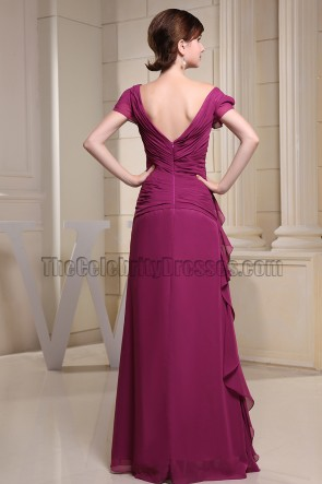 V-neck Handmade Beaded Formal Dress Prom Evening Dresses