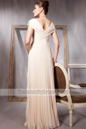 Elegant V-Neck Full Length Formal Dress Evening Gowns