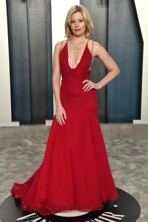 Eiza González Gold Mermaid Formal Dress 2020 Vanity Fair Oscar party