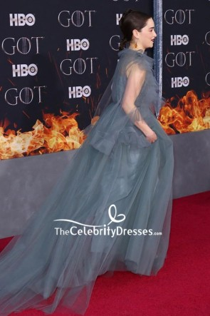 Emilia Clarke Tulle Formal Ball Gown 'Game of Thrones' Season 8 Premiere TCD8364