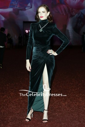 Eva Green Should Pad Evening Formal Velvet Dress Bvlgari dinner and party