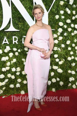 Cynthia Nixon Pearl Pink Strapless Evening Dress 2017 Tony Awards TCD7343