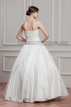 Floor Length Ball Gown Sweetheart Strapless Embroidered Wedding Dress
