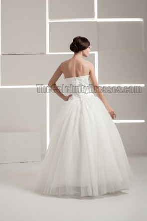 New Design Floor Length Strapless A-Line Wedding Dresses