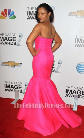 Garcelle Beauvais Fuchsia Formal Evening Dress 2013 NAACP Image Awards