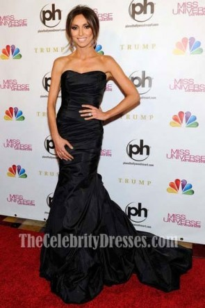 Giuliana Rancic Black Mermaid Gown 2012 Miss Universe Pageant Dress