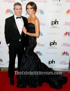 Giuliana Rancic Black Formal Dress 2012 Miss Universe Pageant Gown