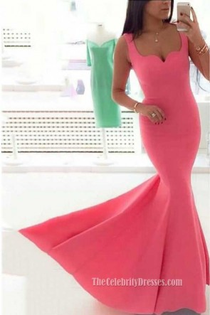 Gorgeous Pink Mermaid Prom Dress Evening Gowns