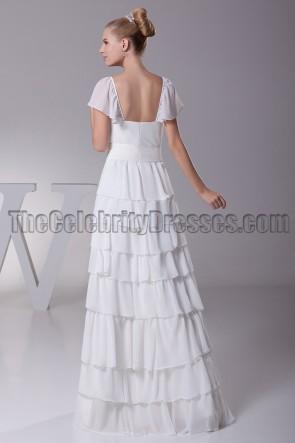Gorgeous Cap Sleeve Floor Length A-Line Wedding Dress