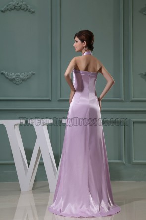 Lilac Halter Long Prom Dress Evening Formal Dresses