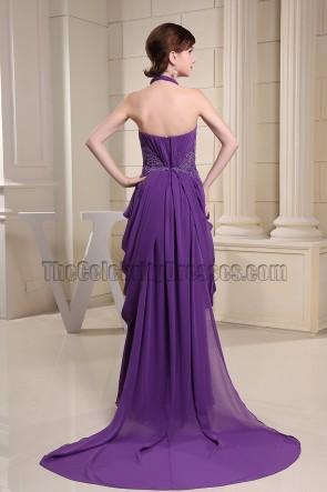 Regency Halter Chiffon Prom Gown Formal Evening Dresses
