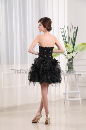 Gorgeous Short Black Beaded Party Dress Little Black Dresses