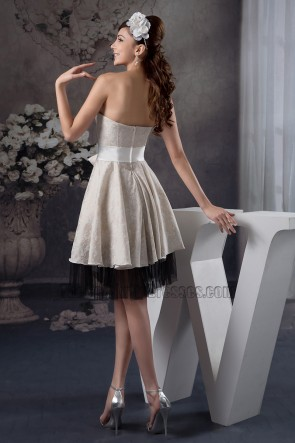Gorgeous Strapless Lace Graduation Cocktail Party Dresses