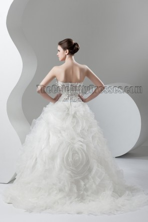 Strapless Sweetheart Ball Gown Sweep/Brush Train Wedding Dress