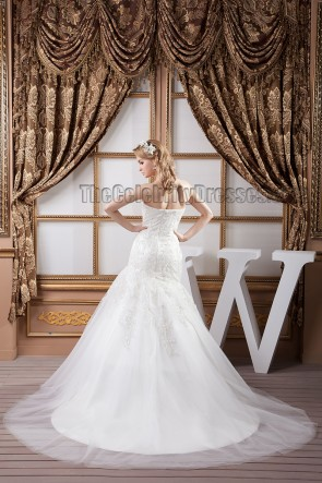 Gorgeous Strapless Sweetheart Embroidered Wedding Dresses