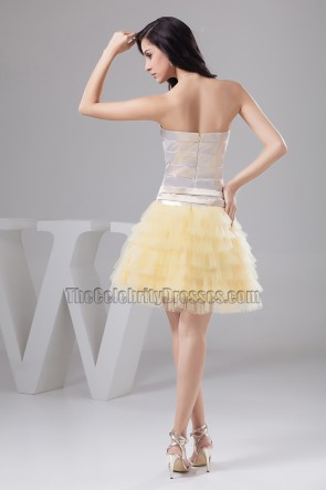Gorgeous Strapless Tulle Homecoming Party Sweet 16 Dresses