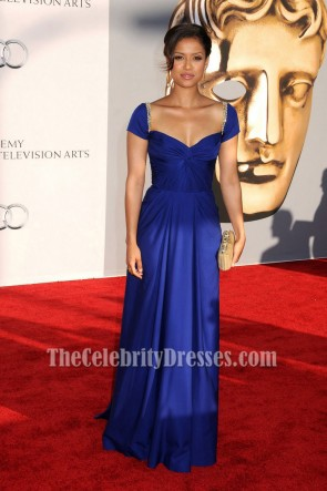 Gugu Mbatha-Raw Royal Blue Prom Dress BAFTA Awards 2011 Red Carpet