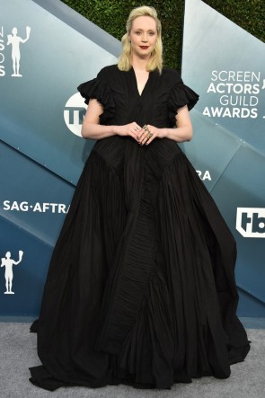 Gwendoline Christie Black Princess Ball Gown 2020 SAG Awards