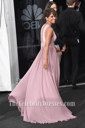 Halle Berry Sexy High Slit Backless Evening Dress Emmy Award 2014 TCD7218