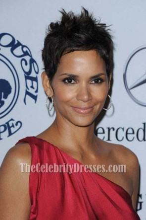 Halle Berry Red One Shoulder Prom Dress 32nd Anniversary Carousel Of Hope Gala