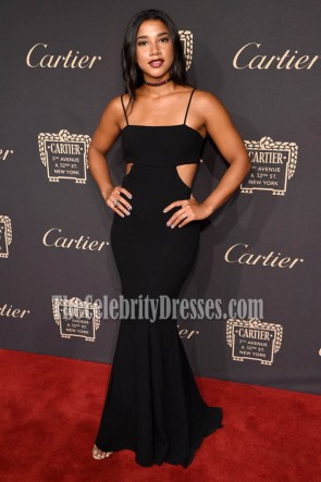 Hannah Bronfman Black Cut Out Gown Cartier Fifth Avenue Grand Reopening Event 2