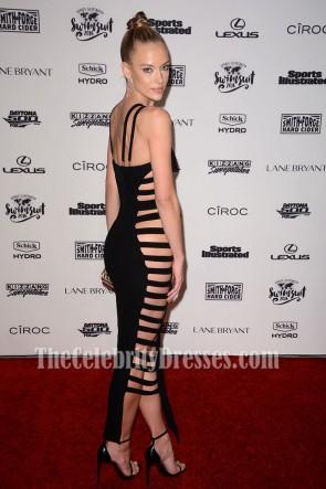 Hannah Ferguson Sexy Black Cut Out Bandage Dress Evening Party Dresses TCDTB6235