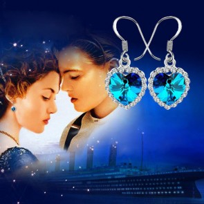 Heart Of Ocean Titanic Romantic Crystal Drop Earrings TCDE0027