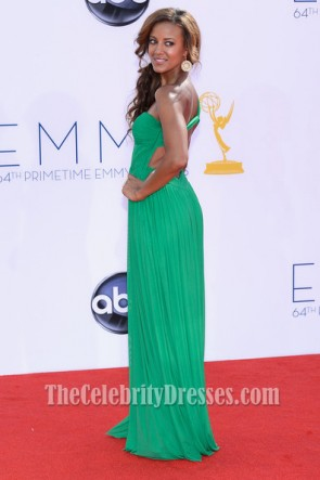 Heather Hemmens Green One Shoulder Prom Dress Emmys 2012