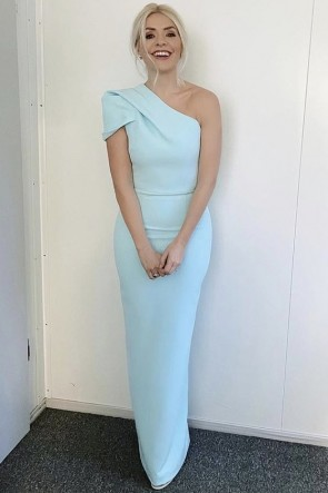 Holly Willoughby One-shoulder Mermaid Evening Dress