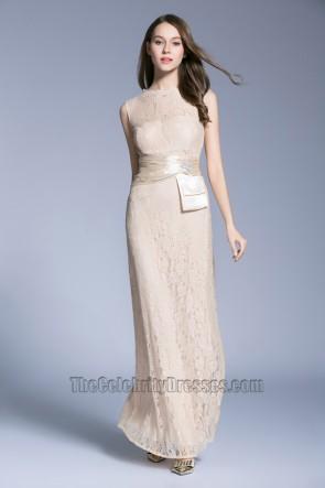 New Lace Sleeveless Evening Dress long Bride Bridesmaid Wedding Dress 2