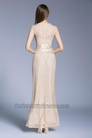 New Lace Sleeveless Evening Dress long Bride Bridesmaid Wedding Dress TCDBF5009