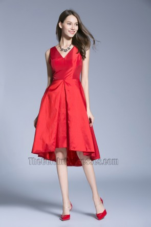 New Red Evening Dress Wedding Prom Gown Graduation Party Dress  1