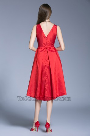 New Red Dress Wedding Prom Gown Graduation Party Dress TCDBF5015