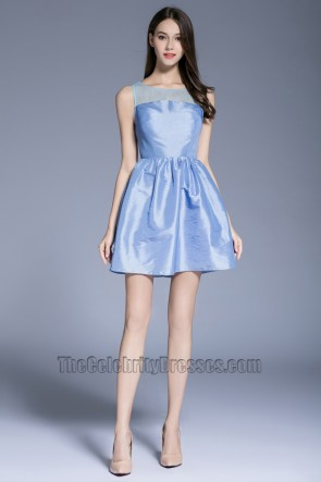 Fashion Girls Short Mini Party Cocktail Prom Gown Blue Graduation Evening Dress 1
