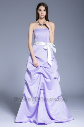 New Fashion Purple Evening Dress Party Sweet Strapless Ball Evening Gown  1